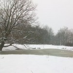 Un étang gelé